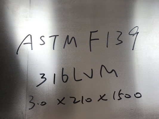 ASTM F138 F139 316LVM Stainless Steel Sheet Round Bar And Wire